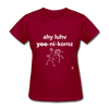 I Love Unicorns T-Shirt - dark red