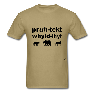 Protect Wildlife T-Shirt - khaki