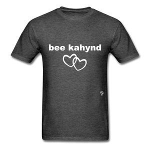 Be Kind T-Shirt - heather black