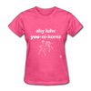 I Love Unicorns T-Shirt - heather pink