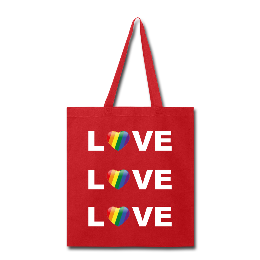 Love Tote Bag - red