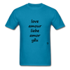 Love in Five Languages - turquoise