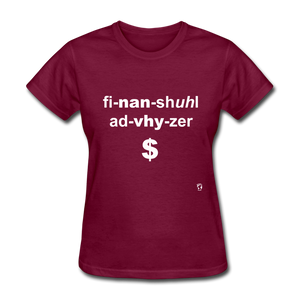 Financial Advisor T-Shirt - burgundy