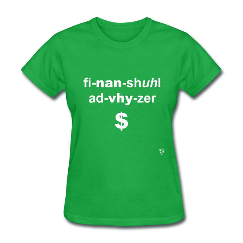 Financial Advisor T-Shirt - bright green