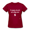 Financial Advisor T-Shirt - dark red