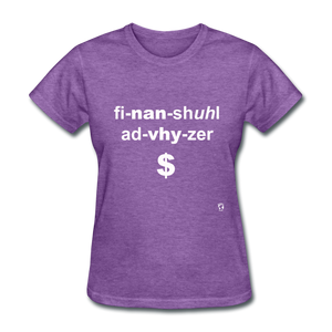Financial Advisor T-Shirt - purple heather