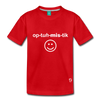 Optimistic Kids' Premium T-Shirt - red