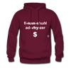 Financial Advisor Hoodie - burgundy