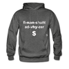 Financial Advisor Hoodie - charcoal gray