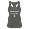 Financial Advisor Women's Racerback Tank Top - charcoal