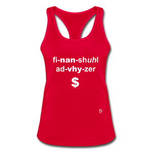 Financial Advisor Women's Racerback Tank Top - red