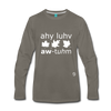 I Love Autumn Premium Long Sleeve T-Shirt - asphalt gray
