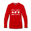 I Love Autumn Premium Long Sleeve T-Shirt - red