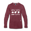 I Love Autumn Premium Long Sleeve T-Shirt - heather burgundy