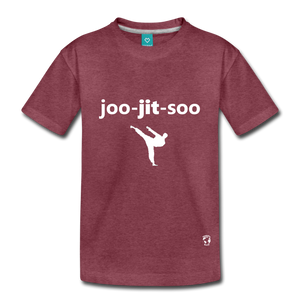 Jiujitsu Kids' Premium T-Shirt - heather burgundy