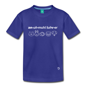 Animal Lover Kids' Premium T-Shirt - royal blue