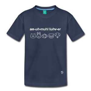Animal Lover Kids' Premium T-Shirt - navy