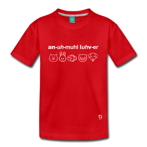Animal Lover Kids' Premium T-Shirt - red