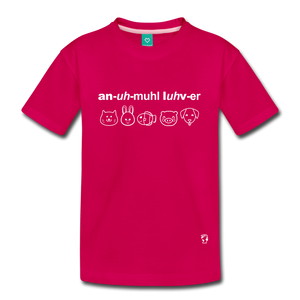 Animal Lover Kids' Premium T-Shirt - dark pink