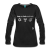 Happy Hanukkuh Women's Premium Long Sleeve T-Shirt - black