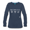 Happy Hanukkuh Women's Premium Long Sleeve T-Shirt - navy