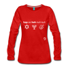 Happy Hanukkuh Women's Premium Long Sleeve T-Shirt - red