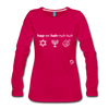 Happy Hanukkuh Women's Premium Long Sleeve T-Shirt - dark pink