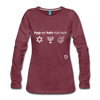 Happy Hanukkuh Women's Premium Long Sleeve T-Shirt - heather burgundy