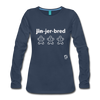 Gingerbread Women's Premium Long Sleeve T-Shirt - navy