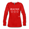 Gingerbread Women's Premium Long Sleeve T-Shirt - red