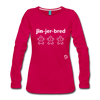 Gingerbread Women's Premium Long Sleeve T-Shirt - dark pink
