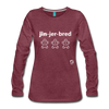 Gingerbread Women's Premium Long Sleeve T-Shirt - heather burgundy
