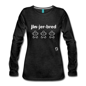 Gingerbread Women's Premium Long Sleeve T-Shirt - charcoal gray