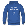 I Love Christmas Hoodie - royal blue