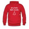 I Love Christmas Hoodie - red