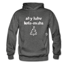 I Love Christmas Hoodie - charcoal gray