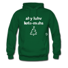 I Love Christmas Hoodie - forest green