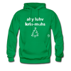 I Love Christmas Hoodie - kelly green