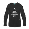 Joy Love Believe Christmas Peace Premium Long Sleeve T-Shirt - black