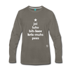 Joy Love Believe Christmas Peace Premium Long Sleeve T-Shirt - asphalt gray