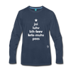 Joy Love Believe Christmas Peace Premium Long Sleeve T-Shirt - navy