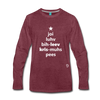 Joy Love Believe Christmas Peace Premium Long Sleeve T-Shirt - heather burgundy