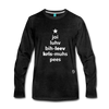 Joy Love Believe Christmas Peace Premium Long Sleeve T-Shirt - charcoal gray