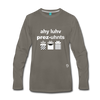I Love Presents Premium Long Sleeve T-Shirt - asphalt gray