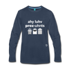 I Love Presents Premium Long Sleeve T-Shirt - navy