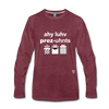 I Love Presents Premium Long Sleeve T-Shirt - heather burgundy