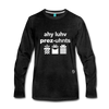 I Love Presents Premium Long Sleeve T-Shirt - charcoal gray