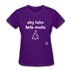 I Love Christmas Women's T-Shirt - purple