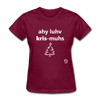 I Love Christmas Women's T-Shirt - burgundy