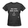 I Love Christmas Women's T-Shirt - heather black